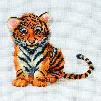 Little Tiger Cub, kit broderie point de croix Anchor
