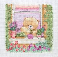 Floral Window, kit � broder Forever Friends Anchor