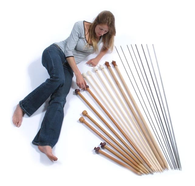 Aiguilles tricoter g antes rachel john kit de tricot - Aiguille a tricoter geante ...