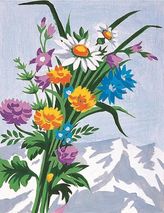 kits canevas enfants kits canevas margot 20 x 25 cm fleurs de montagne kit canevas margot de. Black Bedroom Furniture Sets. Home Design Ideas