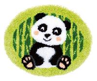 Panda, kit tapis au point noué Vervaco