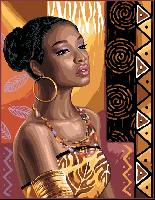 African Lady, kit broderie point de croix
