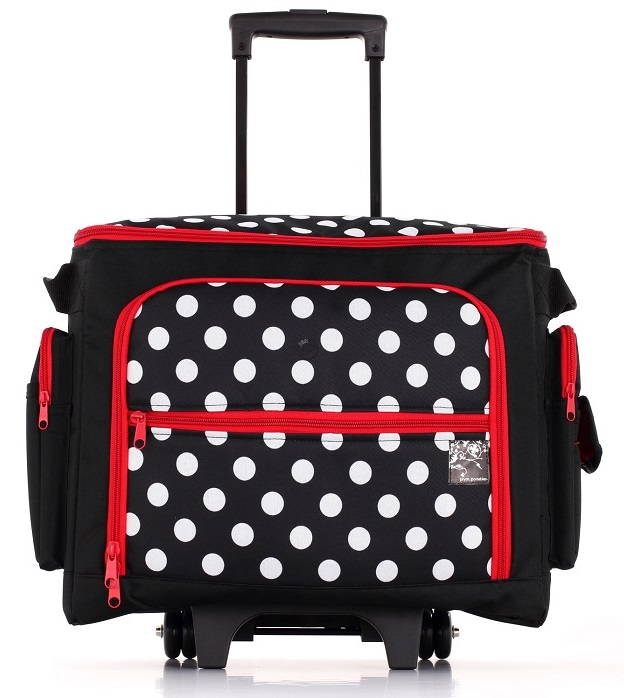 coffrets valise et travailleuses coffrets valise rangement couture coffret polka roulettes. Black Bedroom Furniture Sets. Home Design Ideas