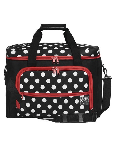 coffrets valise et travailleuses coffrets valise rangement couture sac polka dots prym pour. Black Bedroom Furniture Sets. Home Design Ideas
