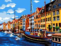 Copenhague, kit canevas Seg de Paris, 60 X 80 cm